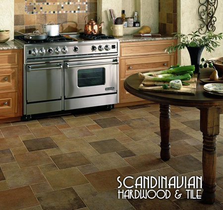 Scandinavian Hardwood + Ceramic Tile Floors
